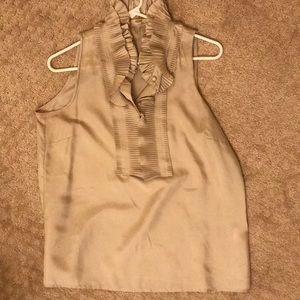 Gorgeous ruffle silk blouse J Crew